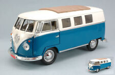 Volkswagen VW Microbus Soft Top 1962 Blue 1:18 Model YAT MING
