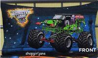 Monster Jam Trucks Grave Digger Monster Mutt  - Polyester/Cotton pillowcase