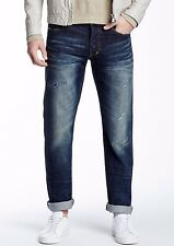 NWT PRPS GOODS & CO Sz30 BARRACUDA STRAIGHT JEANS DISTRESSED RIP & REP BLUE $250
