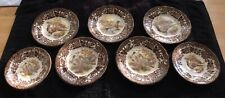 "5 x TEA SIDE PLATES & 2 SAUCERS ROYAL WORCESTER PALISSY  ""GAME SERIES"""