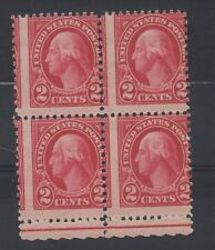 More details for usa. 1922 george washington. 2c block x 4 with perforation shift error. mnh.
