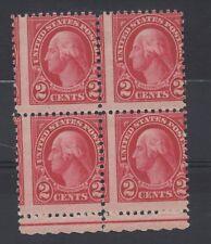 USA. 1922 George Washington. 2c block x 4 with perforation shift error. MNH.