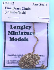 Fine Ring Link Chain 30 inches long CHAIN2 Scale Langley Models Kit Accessories