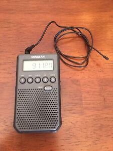 Sangean DT-800BK AM/FM / NOAA Weather Alert/Rechargeable / Alarm Clock / 45 P...