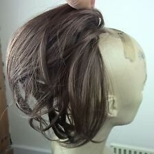 chestnut brown fake pony tail hair bun wedding updo extension piece