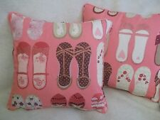 """TWINKLE TOES BY HARLEQUIN 1 PAIR OF 18"""" CUSHION COVERS - DOUBLE SIDED & PIPED"""