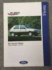 FORD FIESTA FLIGHT 1.4 CFi SPECIAL EDITION SALE BROCHURE AUGUST 1992 FOR 1993