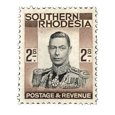 SOUTHERN RHODESIA, SCOTT # 52, 2/- VALUE 1937 KGV1 DEFINITIVE ISSUE MVLH