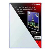 """25 x ULTRA PRO 6"""" X 9"""" Toploader Rigid Clear Top Loaders Photo Print Postcard"""