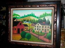 Jonas Bradford Folk Art Oil Painting