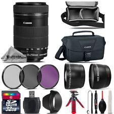 Canon EF-S 55-250mm IS STM Lens + UV-CPL-FLD Filter for EOS Rebel T5, T5i Camera
