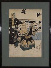 Utagawa Kunisada (Japanese,1786-1865) Original Woodblock Print Edo Period 1829