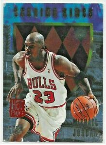 1995-96 Fleer Ultra MICHAEL JORDAN Scoring Kings INSERT Bulls #4 of 12 *DAMAGED*