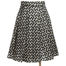 """JW ANDERSON blue white floral embroidered pleated skirt XS EU34 US2 UK6 27"""""""