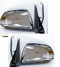 TOYOTA HILUX 2012- ON ELECTRIC DOOR WING MIRROR CHROME WITH INDICATOR PAIR