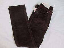 New With Tags HeatTech Corduroys Pants Women's Waist 23 Dark Brown MSRP $39.90