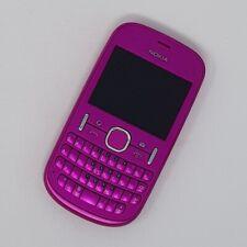 "Nokia Asha 200 2G 2.4"" - Pink QWERTY Keypad FM radio - Good Condition - Unlocked"