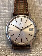 Vintage Stainless Steel Omega Geneve  Wrist Watch.