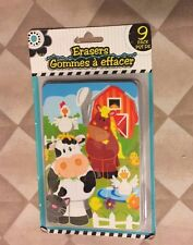Erasers & puzzle Gommes A Effacer 9 Pack Kids Animal Puzzles cartoon