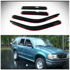 4pcs In-Channel Sun/Rain Guard Vent Shade Window Visor Fit 91-01 Explorer 4-Door