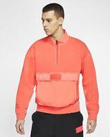 Jordan 23 Engineered Top Sweater 1/4 Zip Men's CJ5997-612 Infrared/Black Size S
