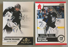 2 Dwayne Roloson Cards 2010-11 Score #590 & 2011-12 All Goalies #79 - Lightning