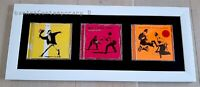 """BANKSY Original complete set """"We Love you"""" limited edition CADRE INCLUS not obey"""