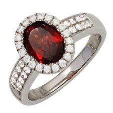 Unbehandelte Ringe mit Zirkon echten Edelsteinen für Damen
