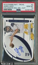 2016 Panini National Treasures Collegiate Die Cut Jared Goff RC AUTO /99 PSA 10
