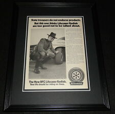 1970 BF Goodrich Tires State Trooper 11x14 Framed ORIGINAL Advertisement
