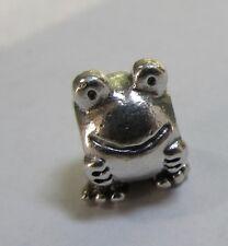 Original Pandora Silber 925ale glücklich lächelnde Frosch Anhänger 790247