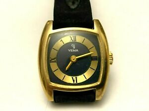 Vintage Mechanical watch YEMA woman lady 17 jewels 21x23mm
