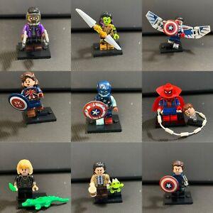 NEW Lego Marvel Mini Figure YOU PICK Spider Man Loki Falcon Zombie Vision