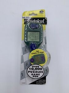 Mini Puzzle Sudoku Ballpoint Game Pen Over 10,000 Puzzles to Solve NEW