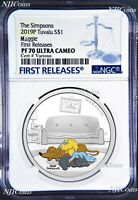 2019 The Simpsons MAGGIE Simpson Proof $1 1oz Silver COIN NGC PF 70 FR PF70