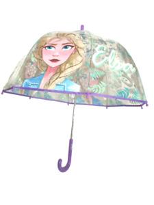 Girls Kids Official Disney Frozen 2 Walking Umbrella Elsa School Rain