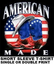 COUNTRY TIL I DIE AMERICAN MADE WAY OF LIFE COWBOY WESTERN HAT BOOTS T-SHIRT 214