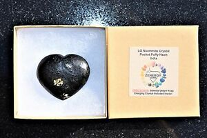 [1] Starburst Flash Nuummite Crystal Puffy Heart / Palm Stone ZENERGY GEMS™