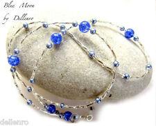 ✫ Blue Moon ✫ hecho a mano con cuentas recetadas gafas gafas gafas Cadena Titular