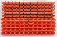 141 teiliges SET Lagersichtboxenwand Stapelboxen mit Montagewand