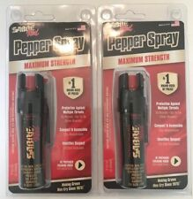 LOT OF 2 Sabre RED PEPPER SPRAY Self Defense Police P-22-OC UV-DYE FREE SHIPPING