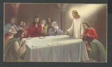 Holy card antique de la Santa Cena santino image pieuse estampa