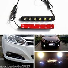 Universal Car 2 Pcs waterproof 6 LED Daytime Running Light DRL Fog Driving Lamp