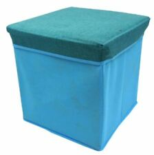 Ottoman Foldable Storage Box (Light Blue)