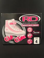 Roller Derby Girls' Firestar Roller Skates White/Pink Size 4 Youth
