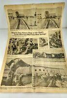 Paper Clip Santa Fe Chief Railroad Picture Story Train Accident Crash Sept. 1956