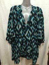 BNWT Womens Sz 24 Moda Brand Pretty Tribal Print Floaty Polyester Kimono RRP $40