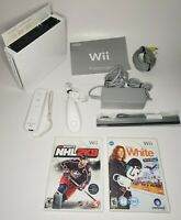 Nintendo Wii White Console RVL-001 GameCube Compatible Bundle Lot Tested NHL
