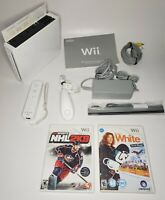 Nintendo Wii Console RVL-001 Game Cube Backwards Compatiable W/ Games+Controller