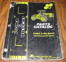 Steiger Wildcat Puma Tractor 1000 Powershift Parts Catalog Manual Book Case 1987